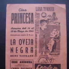 Cine: ESCALA EN TOKIO, LANA TURNER, FOLLETO LOCAL DEL CINE PRINCESA DE VALENCIA, 1962. Lote 115314679