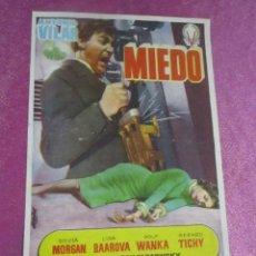 Cine: MIEDO ANTONIO VILAR PROGRAMA DE CINE.. Lote 115322987