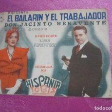 Cine: EL BAILARIN Y EL TRABAJADOR PROGRAMA DE CINE DOBLE HISPANIA TOBIS. Lote 115325235