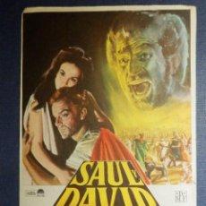 Cine: FOLLETO - PROGRAMA DE MANO - CINE - PELICULA - SAUL Y DAVID - SIN PUBLICIDAD - . Lote 115340007