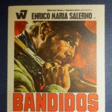 Cine: FOLLETO - PROGRAMA DE MANO - CINE - PELICULA - BANDIDOS - ENRICO MARÍA SALERNO - SIN PUBLICIDAD - . Lote 115340131