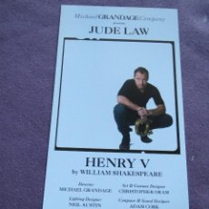 Cine: HENRY V JUDE LAW. Lote 115369191