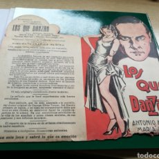 Cine: PROGRAMA DE CINE TROQUELADO. LOS QUE DANZAN. CON PUBLICIDAD DEL CINE OLIMPIA 1932. Lote 115385711