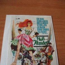 Cine: PROGRAMA DE MANO - CINE MOLL FLANDERS 1965 PDELUXE. Lote 115416551