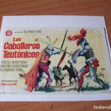 Cine: PROGRAMA DE MANO - CINE LOS CABALLEROS TEUTONICOS 1969 PDELUXE. Lote 115418835