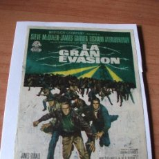 Cine: PROGRAMA DE MANO - CINE LA GRAN EVASION 1963 PDELUXE. Lote 115420887