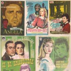 Cine: 5 FOLLETOS DE MANO - CINE COSO ZARAGOZA - SI NO AMANECIERA, EL PRISIONERO DEL REY + 3 (1957).. Lote 114225179