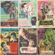 Cine: 6 FOLLETOS DE MANO - CINE COSO ZARAGOZA - RAPSODIA REAL, SECRETO DE CONFESIÓN + 4 (1957).. Lote 114225271
