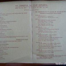 Cine: FOLLETO DE MANO ORIGINAL SEMANA DE CINE ESPAÑOL DE MOLINS DE REI 1970. Lote 115474263