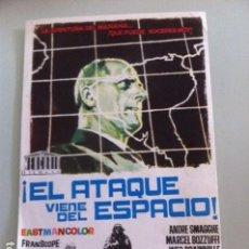 Cine: EL ATAQUE VIENE DEL ESPACIO.. Lote 115555207