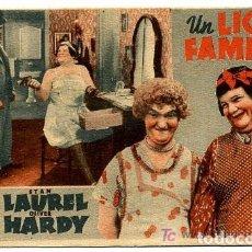 Cine: UN LÍO DE FAMILIA, STAN LAUREL & OLIVER HARDY, TARJETA METRO. Lote 80980388