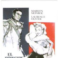 Cine: EL PRINCIPE Y LA CORISTA (MARILYN MONROE)PROGRAMA DE MANO MODERNO NO ORIGINAL. Lote 128359759