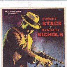 Cine: CARA CORTADA (SCARFACE) CON ROBERT STACK, BARBARA NICHOLS AÑO 1961. Lote 115609587