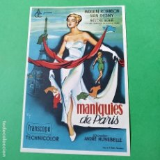 Cine: FOLLETO DE MANO DE LA PELICULA MANIQUIES DE PARIS, VER FOTOS.. Lote 115711159
