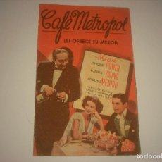 Cine: CAFE METROPOL , DOBLE SIN PUBLICIDAD. Lote 115719051