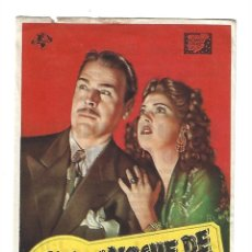 Cine: NOCHE DE PESADILLA - PROGRAMA DE CINE BADALONA C/P 1947. Lote 206469492