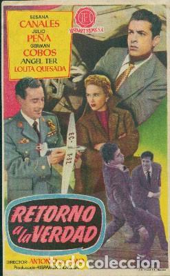 RETORNO A LA VERDAD (Cine - Folletos de Mano - Clásico Español)