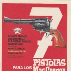 Cine: 7 PISTOLAS PARA LOS MACGREGOR. Lote 116131791