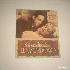 Cine: SU EXCELENCIA EL MAYORDOMO, PROGRAMA DOBLE SIN PUBLICIDAD. Lote 116208399