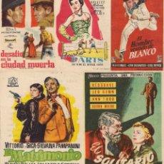 Cine: 5 FOLLETOS DE MANO - CINE COSO ZARAGOZA - EL AIRE DE PARIS, EL MATRIMONIO + 3 - (1956, 1957 Y 1959).. Lote 114080955
