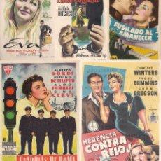 Cine: 5 FOLLETOS DE MANO - CINE COSO ZARAGOZA - EVA, FALSO CULPABLE + 3 - (1952, 1956, 1958 Y 1959).. Lote 114085419