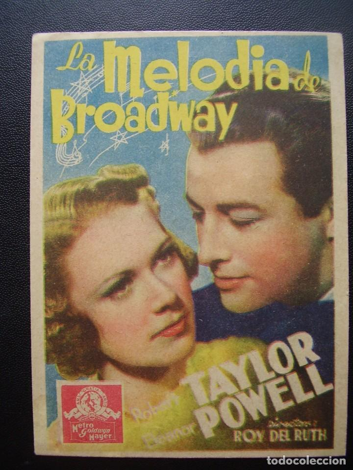 MELODIAS DE BROADWAY, ROBERT TAYLOR, ELEANOR POWELL (Cine - Folletos de Mano - Musicales)
