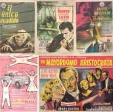 Cine: 5 FOLLETOS DE MANO - CINE COSO ZARAGOZA - YA TENEMOS COCHE, EL ÚNICO EVADIDO + 3 (1959 Y 1960).. Lote 114218547