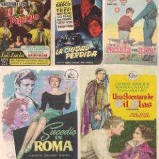 Cine: 5 FOLLETOS DE MANO - CINE COSO ZARAGOZA - RECLUTA CON NIÑO, EL PIYAYO + 3 (1956).. Lote 114221995