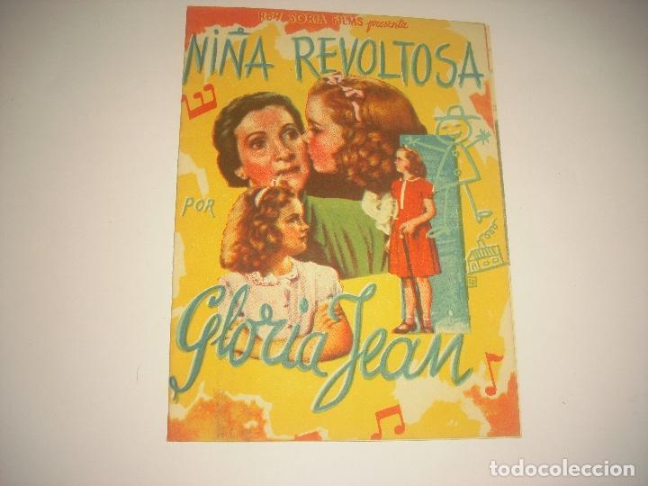 NIÑA REVOLTOSA , PROGRAMA DOBLE SIN PUBLICIDAD (Cine - Folletos de Mano - Comedia)