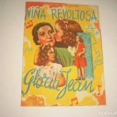 Cine: NIÑA REVOLTOSA , PROGRAMA DOBLE SIN PUBLICIDAD. Lote 116356899