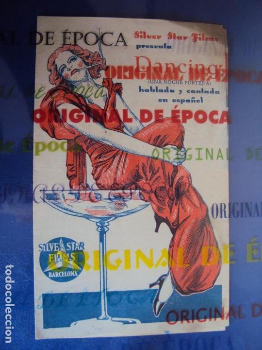 (PG-180359)PROGRAMA DANCING - PAQUITA GARZON - DOBLE - AÑO 1934 (Kino - Filmprogrammhefte - Musicals)