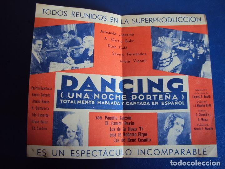 Kino: (PG-180359)PROGRAMA DANCING - PAQUITA GARZON - DOBLE - AÑO 1934 - Foto 3 - 116358579