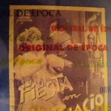 Cine: (PG-180371)PROGRAMA FIESTA EN PALACIO - CAMILLA HORN - DOBLE - AÑO 1935. Lote 116362411