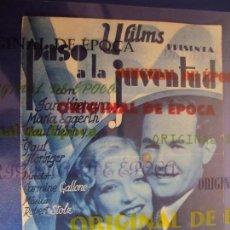 Cine: (PG-180380)PROGRAMA PASO A LA JUVENTUD - JAN KIEPURA - DOBLE - AÑO 1935. Lote 116364471
