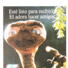 Cine: E.T EL EXTRATERRESTE LOBBY CARDS STEVEN SPIELBERG (PROGAMA DE MANO MODERNO NO ORIGINAL). Lote 116480983