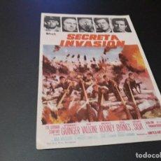 Cine: PROGRAMA DE MANO ORIG - SECRETA INVASION - CINE DE CIUDAD REAL ( PEDIDO MIN 5 EUROS). Lote 116494415