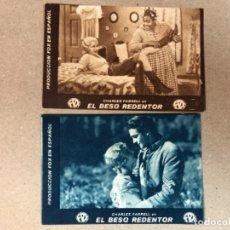 Cine: LOTE DE 2 PROGRAMAS DE LA PELICUAL - EL BESO REDENTOR ( FOX) - AÑO 1936. Lote 116599083