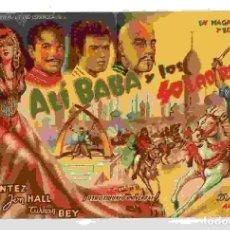 Cine: ALÍ BABÁ Y LOS 40 LADRONES, CON MARÍA MONTEZ. S/I.. Lote 116726243