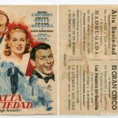 Cine: ALTA SOCIEDAD, CON BING CROSBY.. Lote 171712179