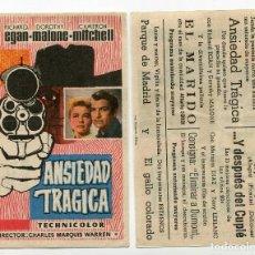 Cine: ANSIEDAD TRÁGICA, CON RICHAD EGAN.. Lote 206592601