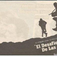 Cine: EL DESAFIO DE LAS ÁGUILAS - DOBLE - SIN PUBLICIDAD. Lote 116757939