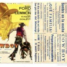 Folhetos de mão de filmes antigos de cinema: COWBOY, CON GLENN FORD.. Lote 267869719