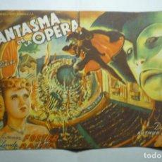 Cine: PROGRAMA GRANDE EL FANTASMA DE LA OPERA-NELSON EDDY -PUBLICIDAD. Lote 221322137