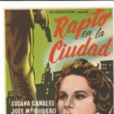 Cine: RAPTO EN LA CIUDAD - SENCILLO - SIN PUBLICIDAD. Lote 116810887