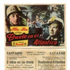 Folhetos de mão de filmes antigos de cinema: DUELO EN EL ATLÁNTICO, CON ROBERT MITCHUM.. Lote 116848727