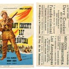 Cine: DAVY CROCKETT, REY DE LA FRONTERA.. Lote 267869889
