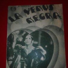 Cine: FOLLETO DE MANO LA VENUS NEGRA. Lote 116875856