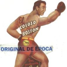 Foglietti di film di film antichi di cinema: (PG-180401)PROGRAMA DE CINE TROQUELADO Y ARTICULADO - EL COLOSO DE BOSTON. Lote 116929763