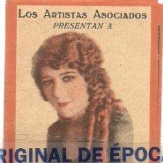 Cine: (PG-180404)LA PEQUEÑA VENDEDORA PROGRAMA LIBRITO ARTISTAS ASO. MARY PICKFORD CAROLE LOMBARD-1928. Lote 116930667