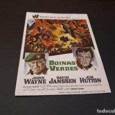 Cine: PROGRAMA DE MANO ORIG - BOINAS VERDES - SIN CINE ( PEDIDO MIN 5 EUROS). Lote 117013827